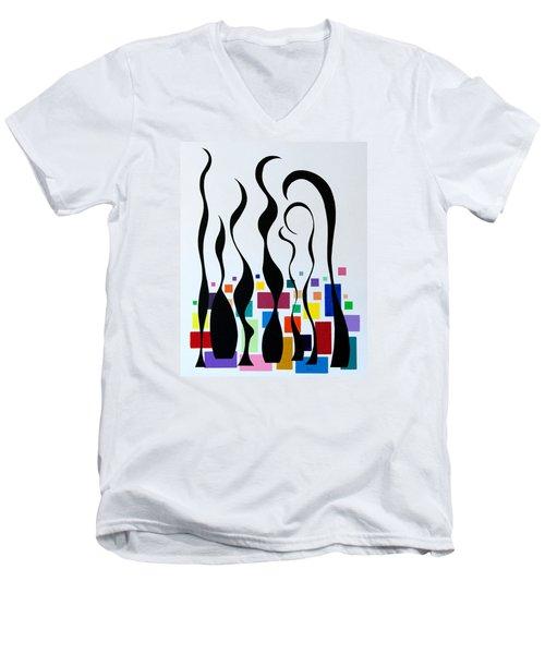 Embracing Men's V-Neck T-Shirt by Thomas Gronowski