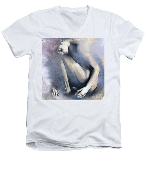 Embryonic II. Textured Square Men's V-Neck T-Shirt