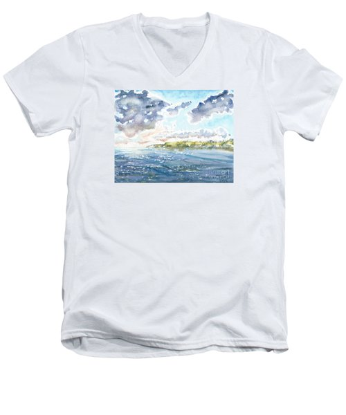 Emerging Sun  Men's V-Neck T-Shirt