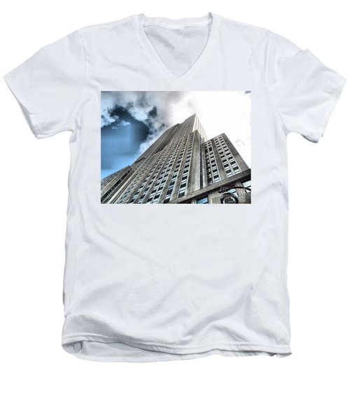 Empire State Building - Vertigo In Reverse Men's V-Neck T-Shirt