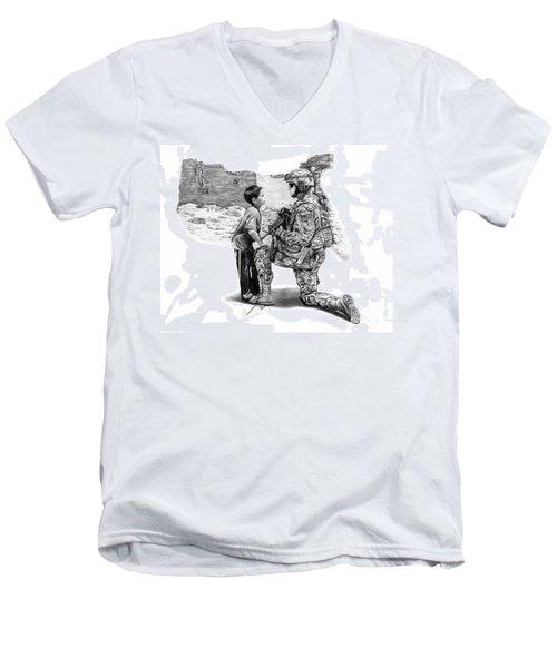 Empty Pockets  Men's V-Neck T-Shirt by Peter Piatt