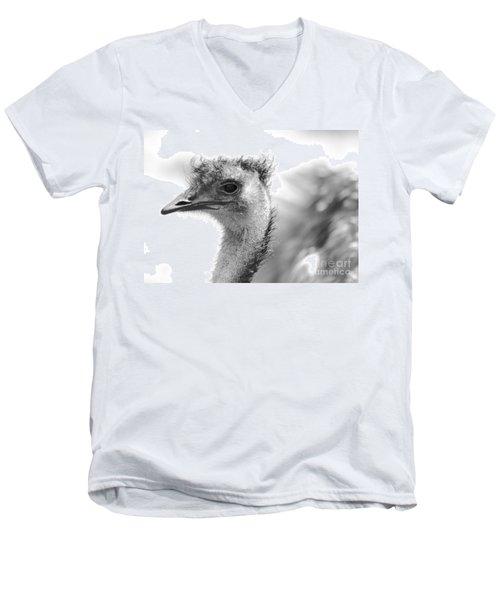 Emu - Black And White Men's V-Neck T-Shirt