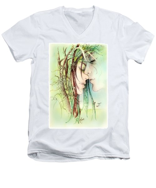 Encounter  From Love Angels Series Men's V-Neck T-Shirt