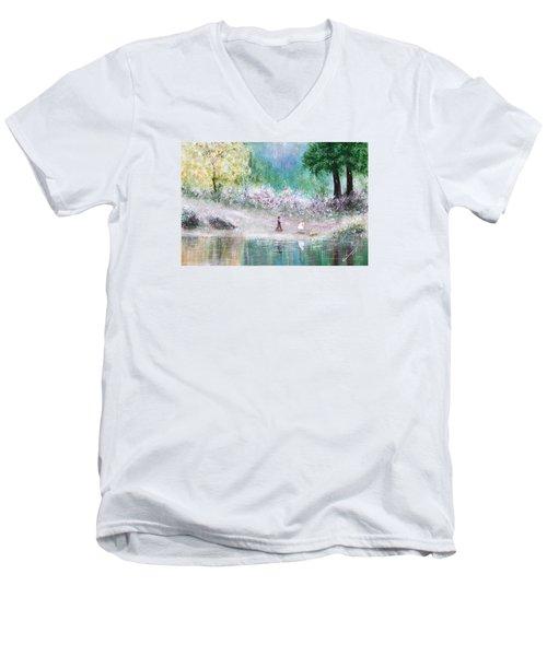 Endless Day Men's V-Neck T-Shirt by Kume Bryant