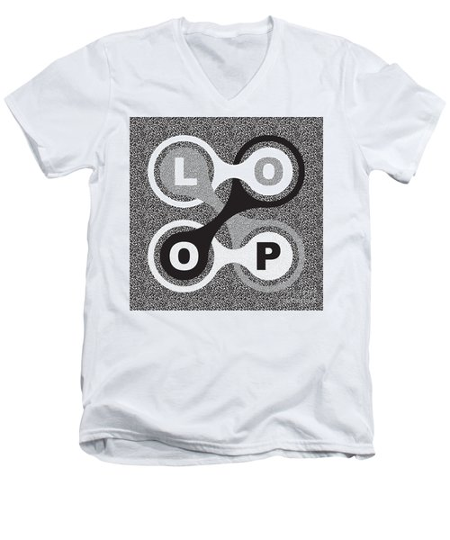 Endless Loop Men's V-Neck T-Shirt