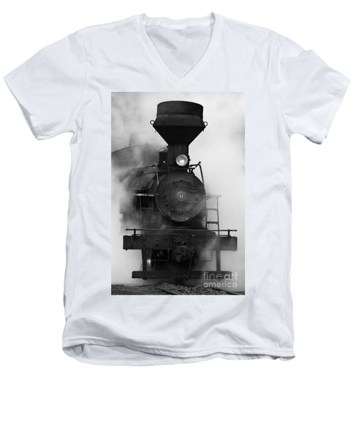 Men's V-Neck T-Shirt featuring the photograph Engine No. 6 by Jerry Fornarotto