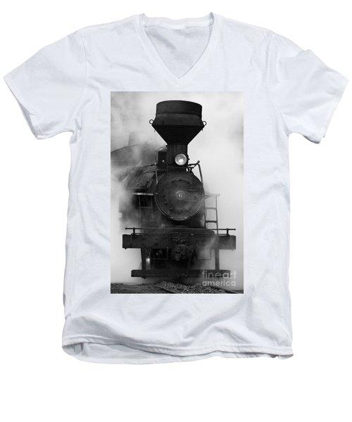 Engine No. 6 Men's V-Neck T-Shirt by Jerry Fornarotto