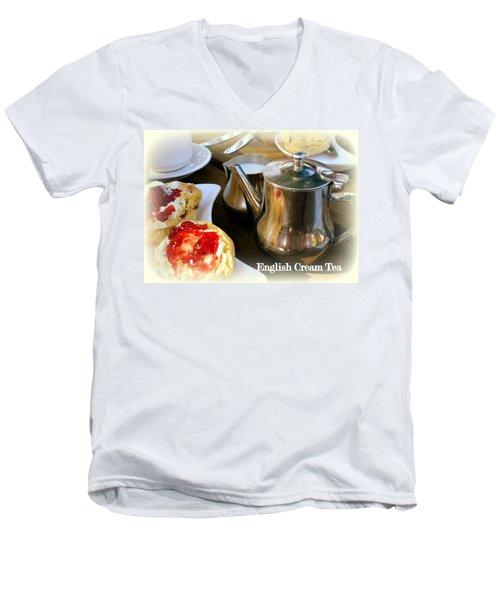 English Cream Tea Men's V-Neck T-Shirt