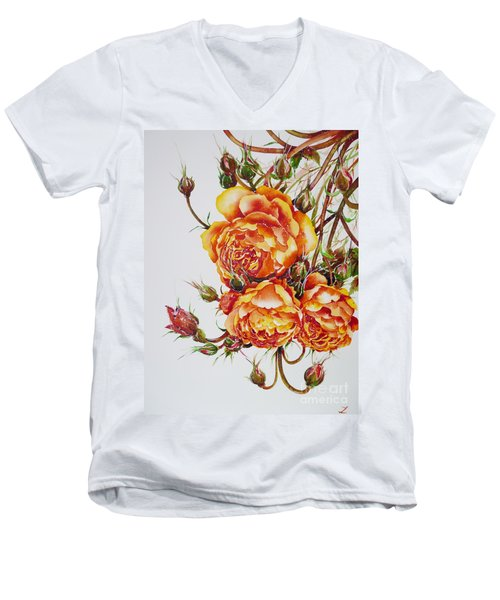 English Roses Men's V-Neck T-Shirt