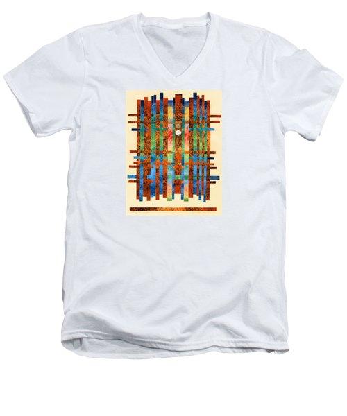 Entering The Temple Men's V-Neck T-Shirt by Lynda Hoffman-Snodgrass