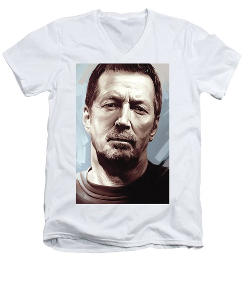Eric Clapton Artwork Men's V-Neck T-Shirt