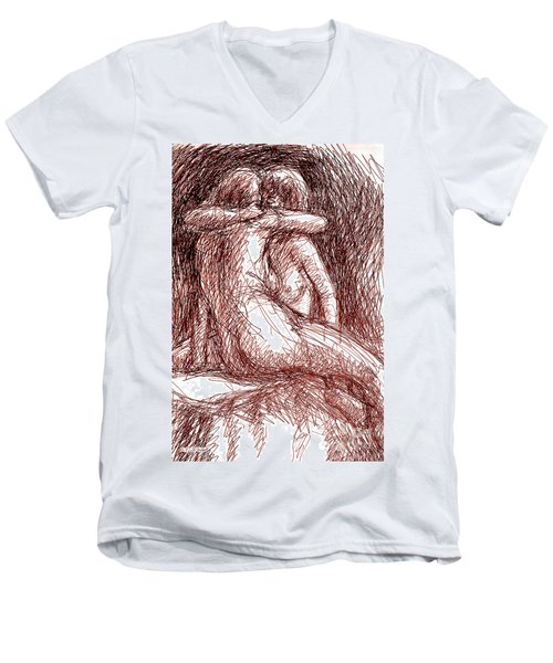 Erotic Drawings 19-2 Men's V-Neck T-Shirt