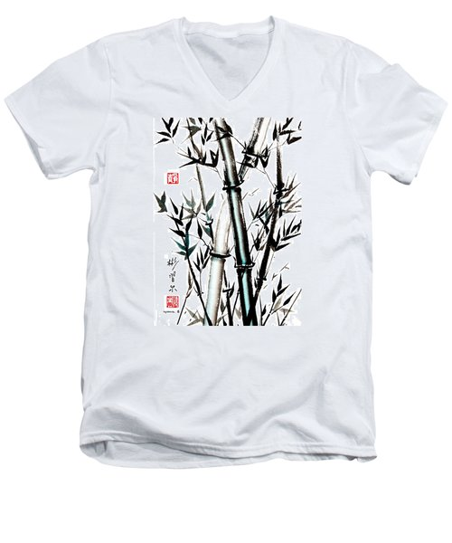 Men's V-Neck T-Shirt featuring the painting Essence Of Strength by Bill Searle