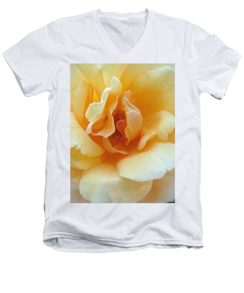 Lightness Of Being - Yellow Rose Macro -floral Art From The Garden Men's V-Neck T-Shirt