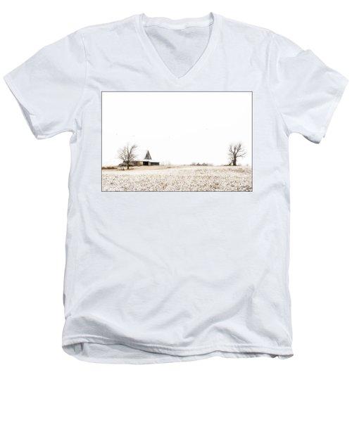 Ethereal Wintry Scene Men's V-Neck T-Shirt