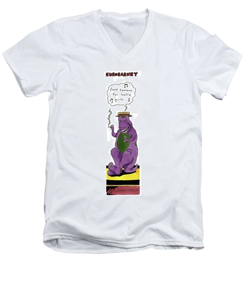 Eurobarney 'zank Heavonz For Leetle Girls . . .' Men's V-Neck T-Shirt