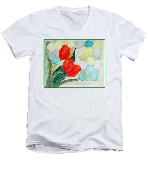 Europa Men's V-Neck T-Shirt by Sonali Gangane