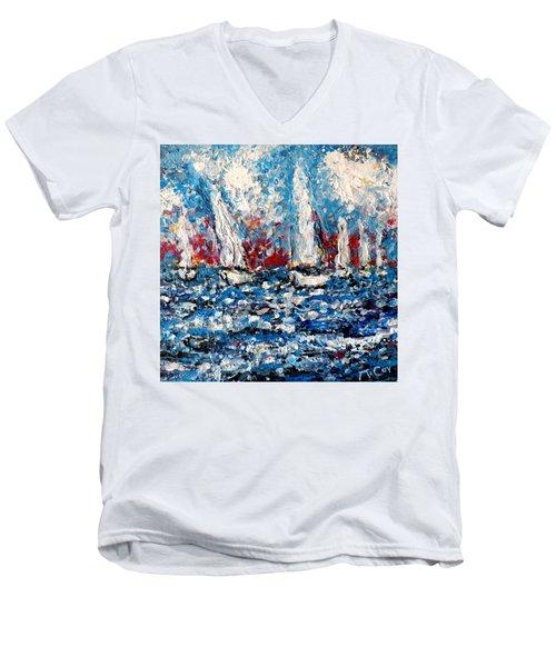 Evening Sailing Men's V-Neck T-Shirt