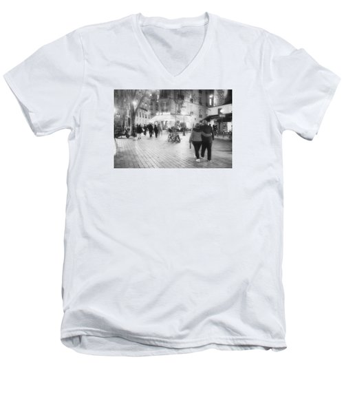 Evening Stroll In Paris Men's V-Neck T-Shirt