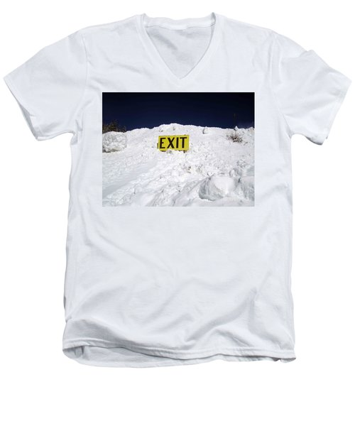 Men's V-Neck T-Shirt featuring the photograph Exit by Fiona Kennard