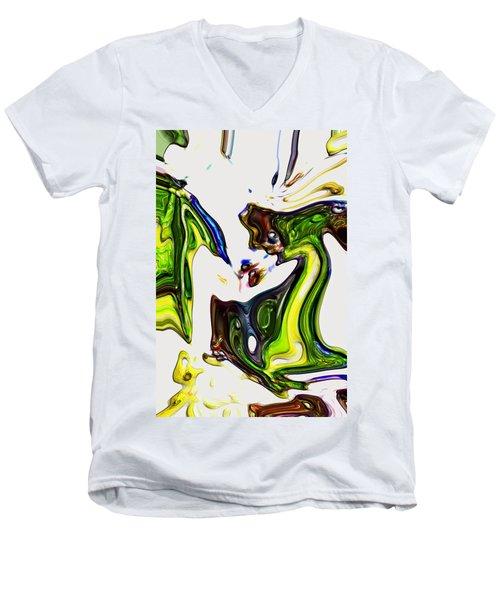 Men's V-Neck T-Shirt featuring the digital art Expectation by Richard Thomas