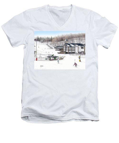 Experience Hidden Valley Men's V-Neck T-Shirt by Albert Puskaric