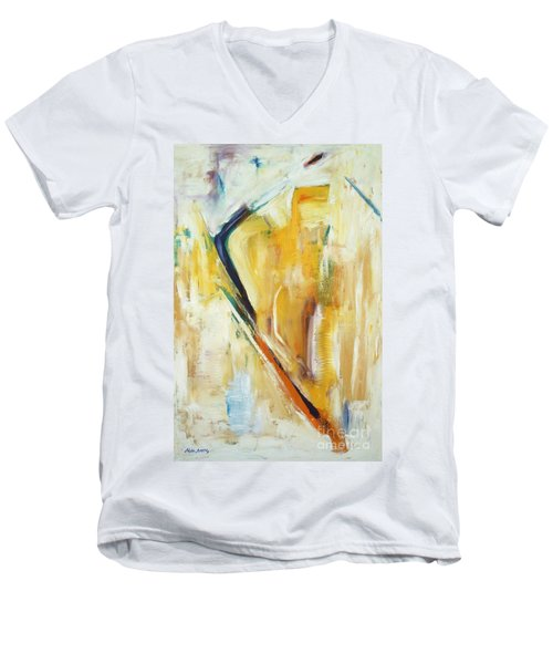Expressions Men's V-Neck T-Shirt by Mini Arora