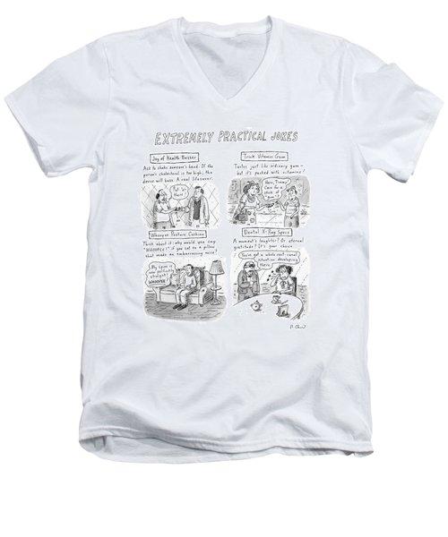 Extremely Practical Jokes Men's V-Neck T-Shirt