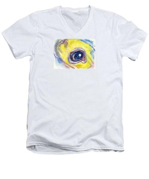 Eye Of Pelican Men's V-Neck T-Shirt by Ashley Kujan