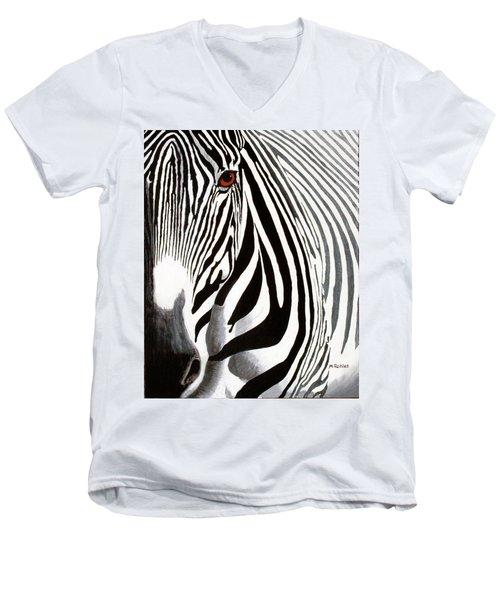 Eye Of The Zebra Men's V-Neck T-Shirt