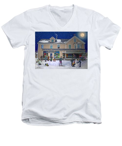 Faddens General Store In North Woodstock Nh Men's V-Neck T-Shirt