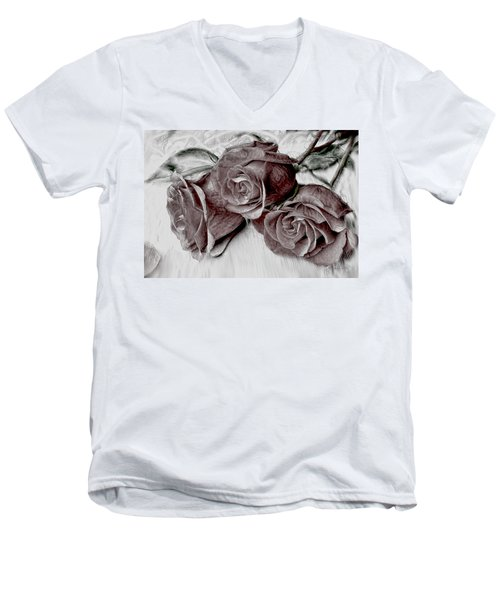 Faded Love Men's V-Neck T-Shirt by Bonnie Willis