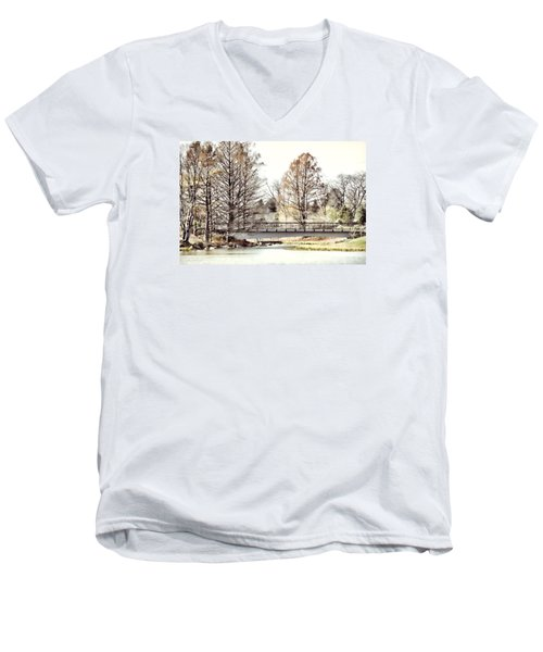 Fading Palette Of Fall Men's V-Neck T-Shirt