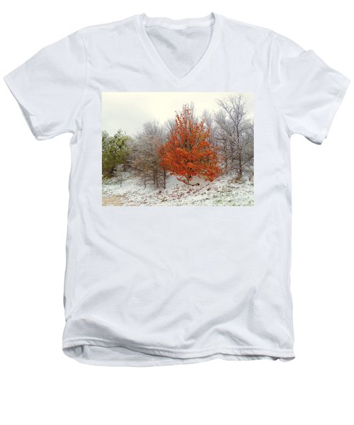 Fall And Winter Men's V-Neck T-Shirt