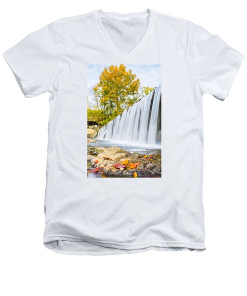 Fall At Buck Creek Men's V-Neck T-Shirt