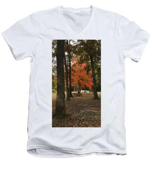 Fall Brings Changes  Men's V-Neck T-Shirt by Amazing Photographs AKA Christian Wilson