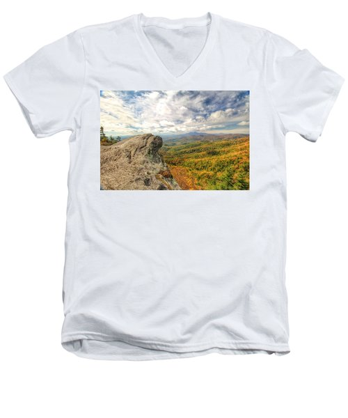 Fall From The Blowing Rock Men's V-Neck T-Shirt