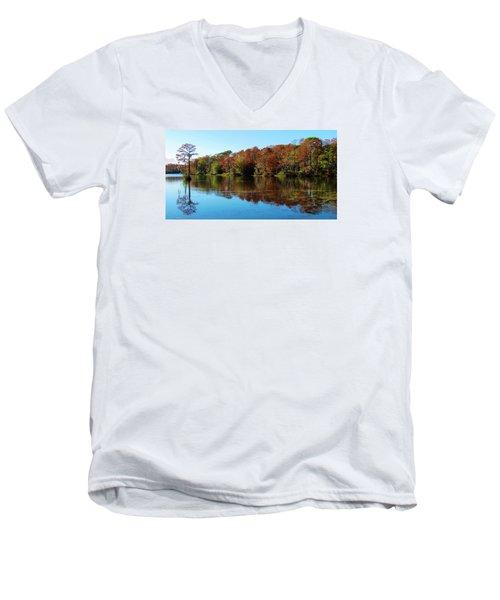 Fall In The Air Men's V-Neck T-Shirt by Cynthia Guinn