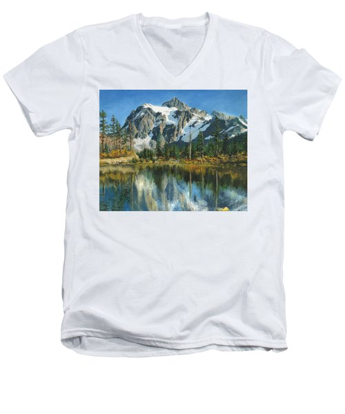 Fall Reflections - Cascade Mountains Men's V-Neck T-Shirt