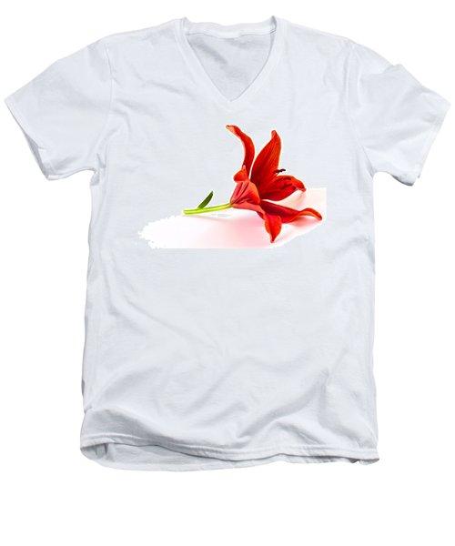 Fallen Tiger Lily Men's V-Neck T-Shirt
