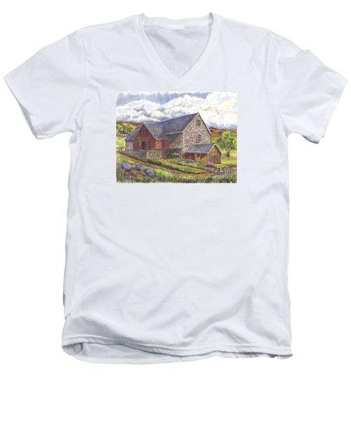A Scottish Farm  Men's V-Neck T-Shirt