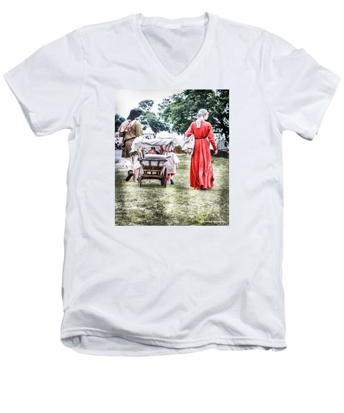 Men's V-Neck T-Shirt featuring the photograph Family Rollin' by Stwayne Keubrick