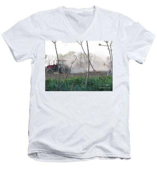 Men's V-Neck T-Shirt featuring the photograph Farm Life  by Michael Krek