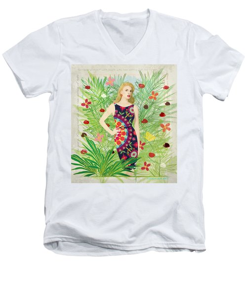 Fashion And Art - Limited Edition 1 Of 10 Men's V-Neck T-Shirt by Gabriela Delgado