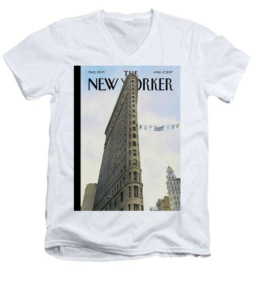 Fashion District Men's V-Neck T-Shirt