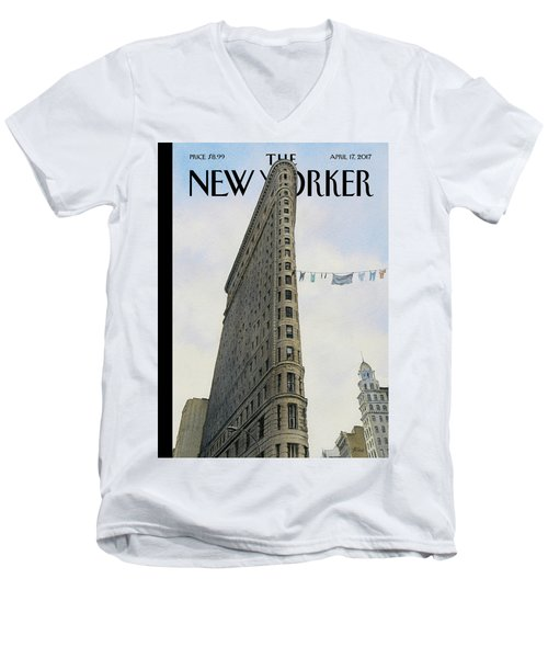 Fashion District Men's V-Neck T-Shirt