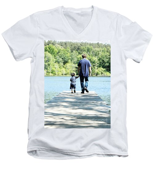 Father And Son Men's V-Neck T-Shirt
