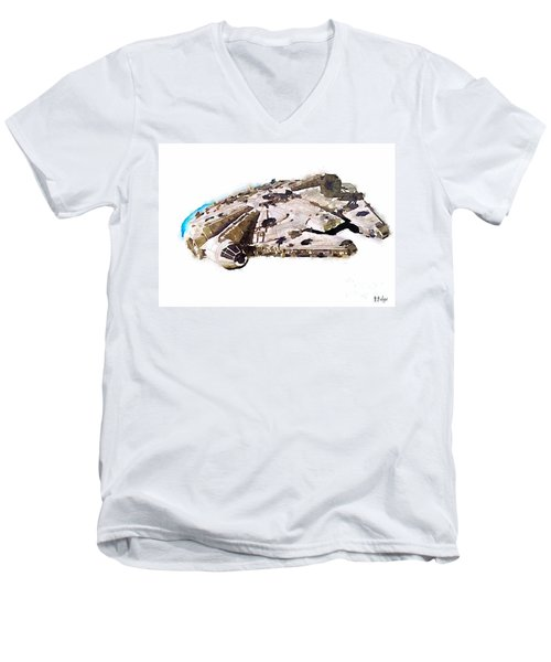 Millenium Falcon Men's V-Neck T-Shirt