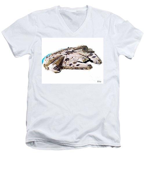 Millenium Falcon Men's V-Neck T-Shirt