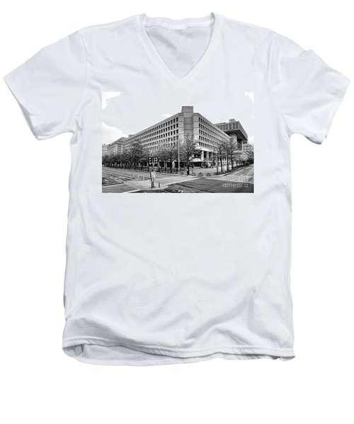 Fbi Building Front View Men's V-Neck T-Shirt